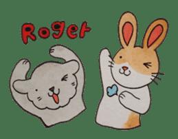mimi & yui @ cafe sticker #4787135