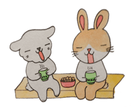 mimi & yui @ cafe sticker #4787136
