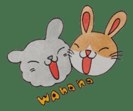 mimi & yui @ cafe sticker #4787140