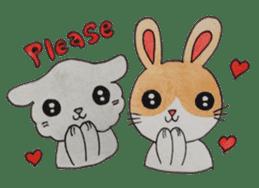 mimi & yui @ cafe sticker #4787141