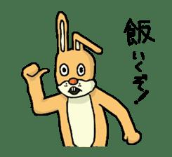 Daily life of Mr. rabbit sticker #4787424