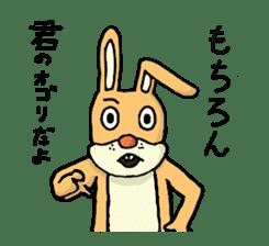 Daily life of Mr. rabbit sticker #4787425