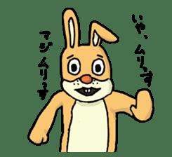 Daily life of Mr. rabbit sticker #4787430