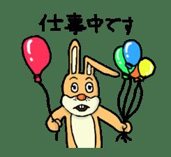 Daily life of Mr. rabbit sticker #4787438