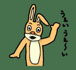 Daily life of Mr. rabbit sticker #4787440