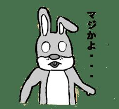 Daily life of Mr. rabbit sticker #4787444