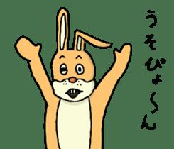 Daily life of Mr. rabbit sticker #4787455