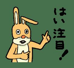 Daily life of Mr. rabbit sticker #4787459