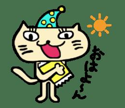 Female cat Cal sticker #4788544