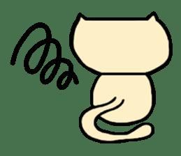 Female cat Cal sticker #4788573