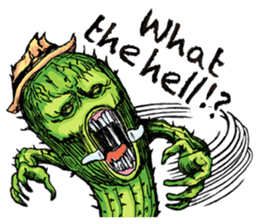 Mr.Cactus(English Version) sticker #4790548