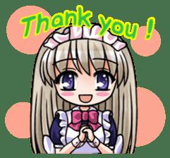 Japanese MOE maid sticker #4791058