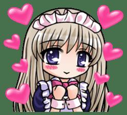 Japanese MOE maid sticker #4791085