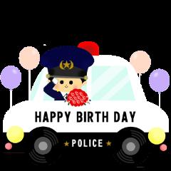 patrol car and police sticker