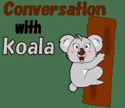 Conversation with koala English sticker #4791736