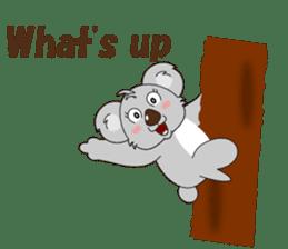 Conversation with koala English sticker #4791739