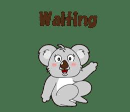 Conversation with koala English sticker #4791740