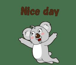 Conversation with koala English sticker #4791742