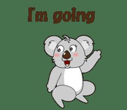 Conversation with koala English sticker #4791743