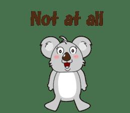 Conversation with koala English sticker #4791747