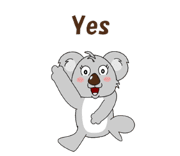 Conversation with koala English sticker #4791753