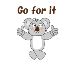 Conversation with koala English sticker #4791761