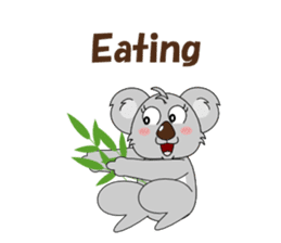 Conversation with koala English sticker #4791772