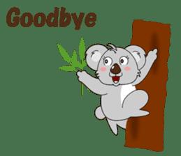 Conversation with koala English sticker #4791775