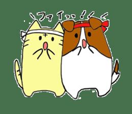 Close dog and cat sticker #4793862