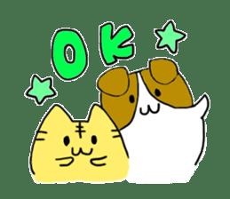 Close dog and cat sticker #4793866