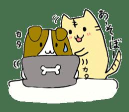 Close dog and cat sticker #4793874