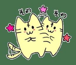 Close dog and cat sticker #4793875