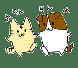 Close dog and cat sticker #4793890