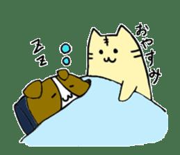 Close dog and cat sticker #4793893