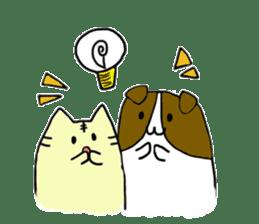 Close dog and cat sticker #4793895