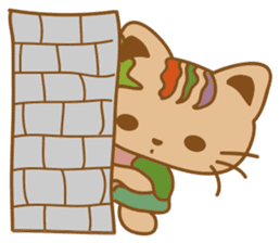 pin pin cat sticker #4798492