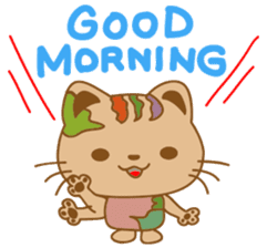 pin pin cat sticker #4798516