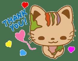 pin pin cat sticker #4798517