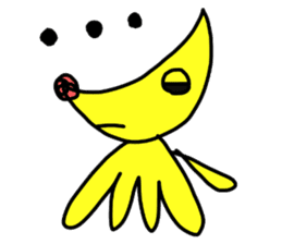 Crescent pooch sticker #4800035