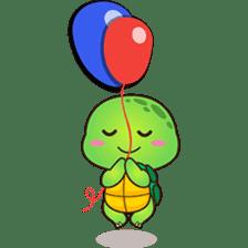 Pura the green turtle ( version 3 ) sticker #4802126
