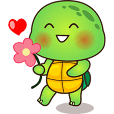 Pura the green turtle ( version 3 ) sticker #4802130