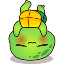 Pura the green turtle ( version 3 ) sticker #4802132