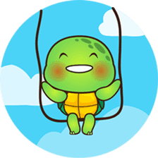 Pura the green turtle ( version 3 ) sticker #4802133