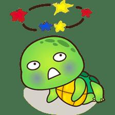 Pura the green turtle ( version 3 ) sticker #4802136