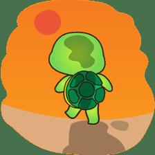 Pura the green turtle ( version 3 ) sticker #4802137