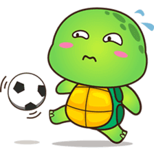 Pura the green turtle ( version 3 ) sticker #4802139