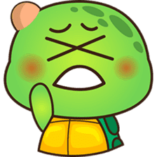 Pura the green turtle ( version 3 ) sticker #4802141