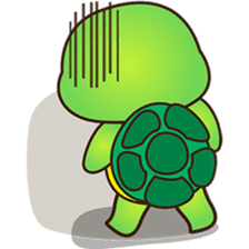 Pura the green turtle ( version 3 ) sticker #4802144