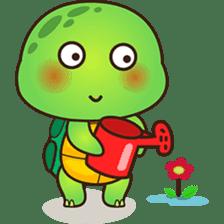 Pura the green turtle ( version 3 ) sticker #4802146