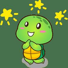 Pura the green turtle ( version 3 ) sticker #4802156